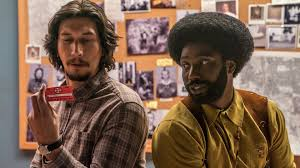Adam Driver and John David Washington in Blackklansman